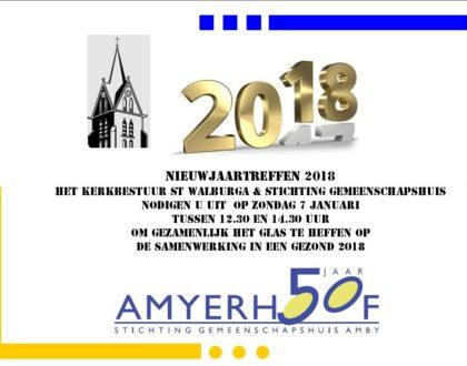 Nieuwjaartreffen op zondag 7 januari tussen 12.30 u en 14.30 u