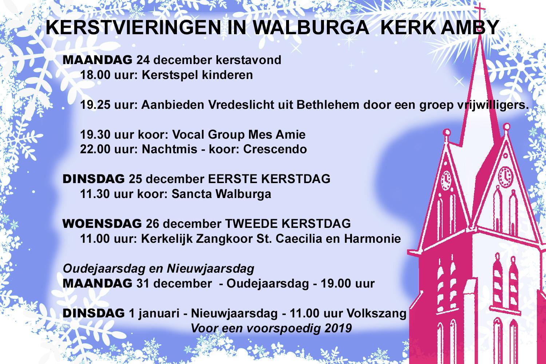 Kerstvieringen in Sint Walburga kerk Amby